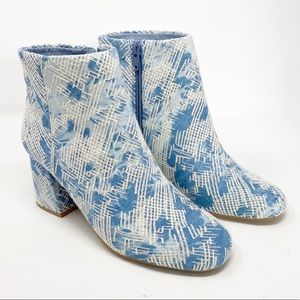 Seychelles | Blue Embroidered Audition Ankle Boot